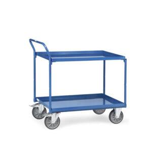 Chariot à plateaux tôlés